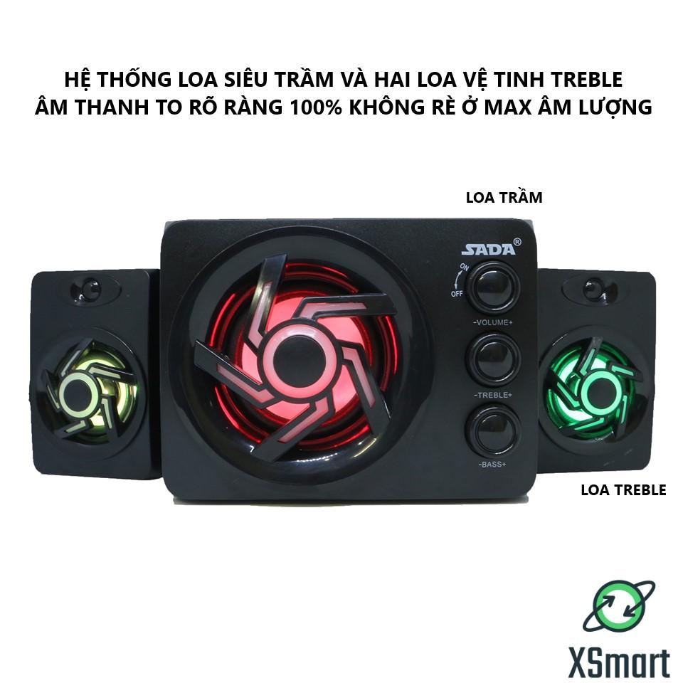 Loa Vi Tính Bluetooth Gaming XSmart SADA D-209 Super Bass Phiên bản nâng cấp của 2GOOD Dùng Cho PC Laptop Điện Thoại - Hàng Chính Hãng