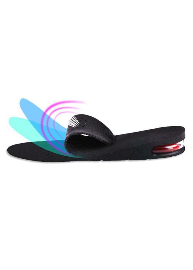 Lót giày tăng chiều cao cao su nguyên bàn 1 lớp cao 3 cm (Màu Đen)