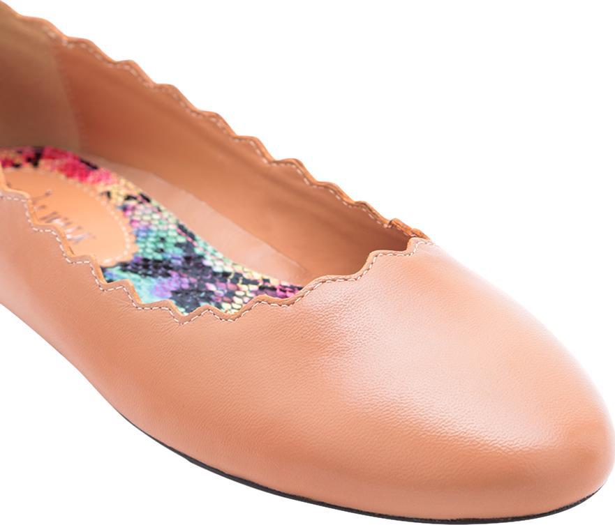 Giày Búp Bê Nữ Mũi Tròn Răng Cưa