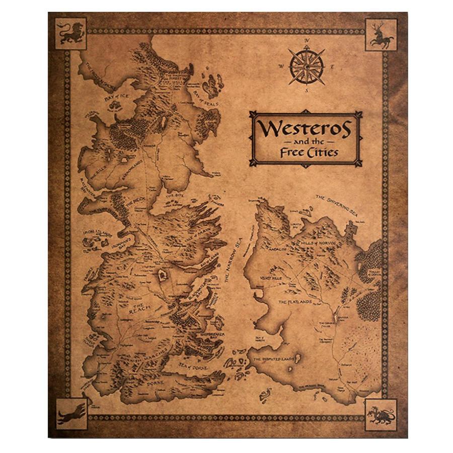 Tranh treo trường trò chơi quyền lực Game Of Throne 35 x 42