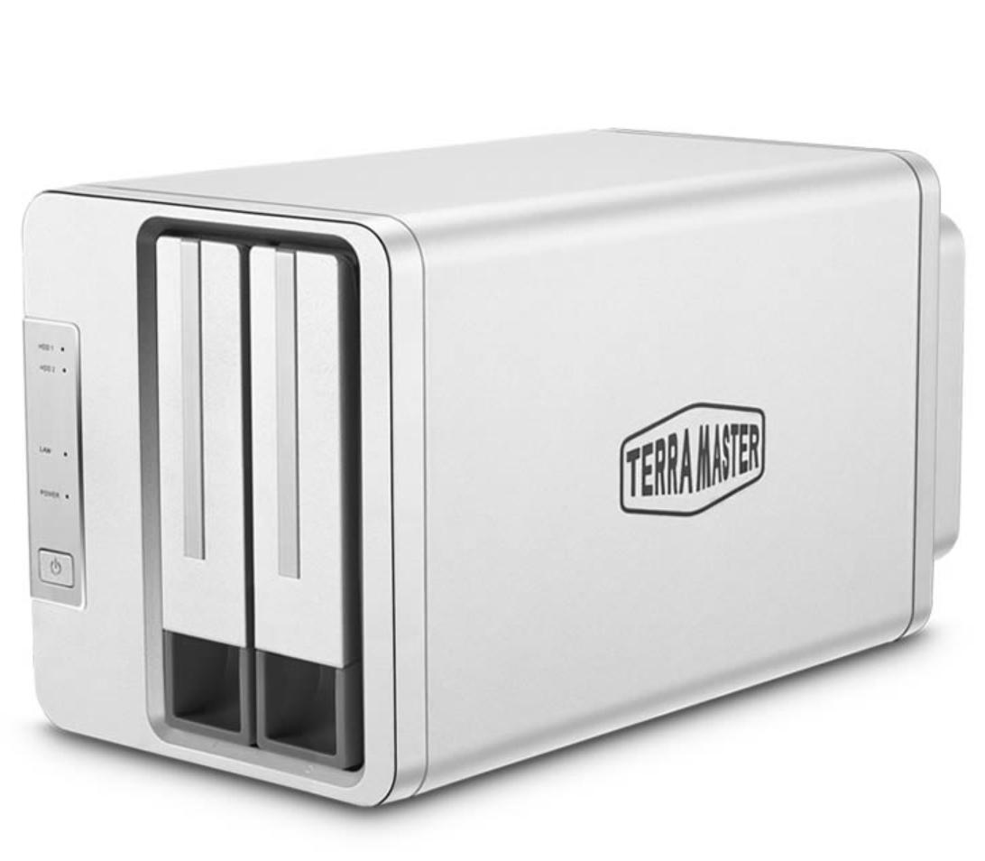 Bộ lưu trữ mạng NAS TerraMaster F2-210 Quad-core CPU, RAM 1GB, 2 khay ổ cứng RAID 0,1,JBOD,Single - Hàng chính hãng