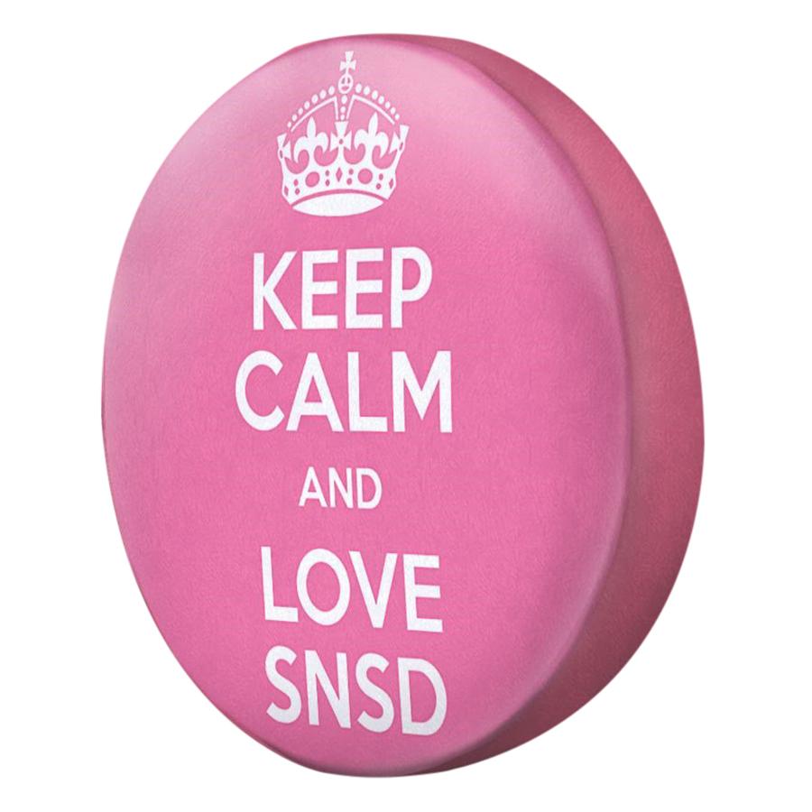 Gối Ôm Tròn Keep Calm And Love SNSD - GOKK074