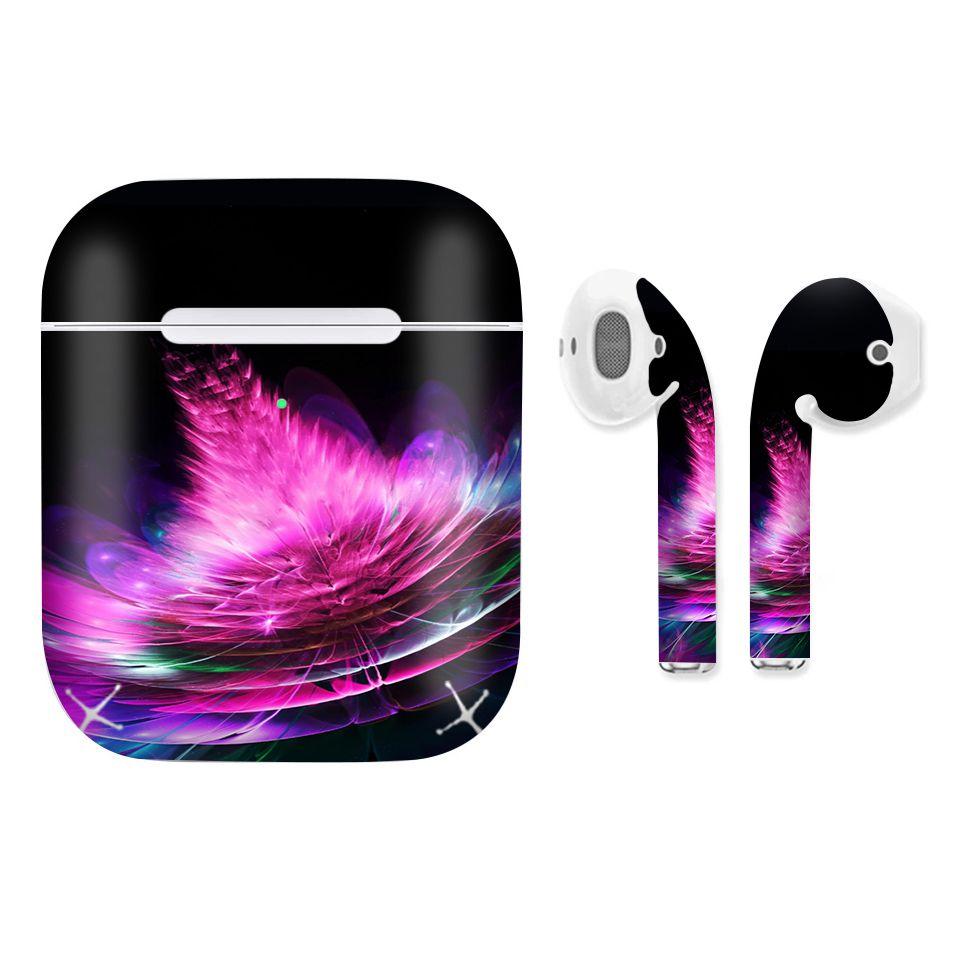 Miếng dán skin chống bẩn cho tai nghe AirPods in hình thiết kế - atk329 (bản không dây 1 và 2)
