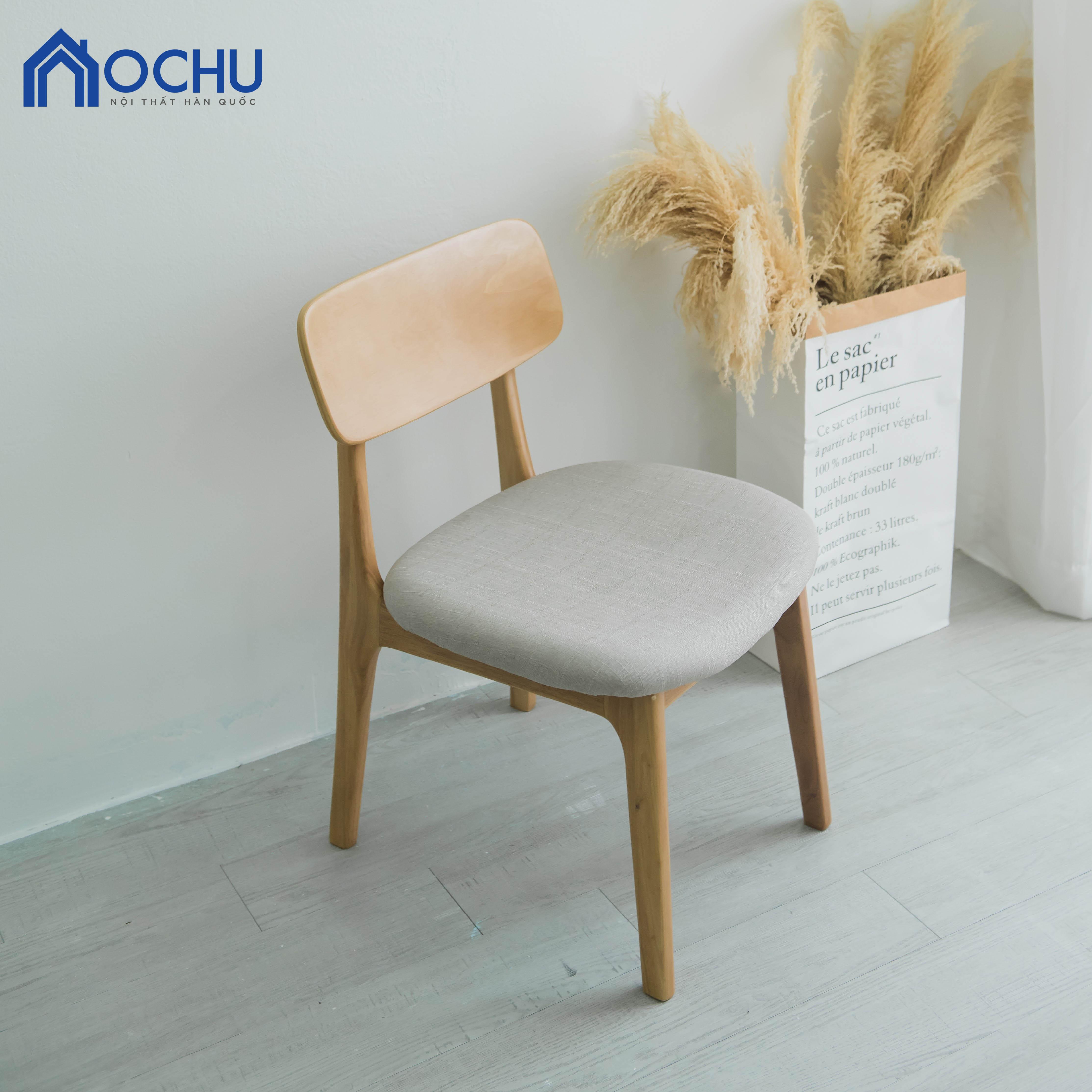 Ghế Ăn Gỗ Cao Su OCHU - Iamar Chair S - Natural