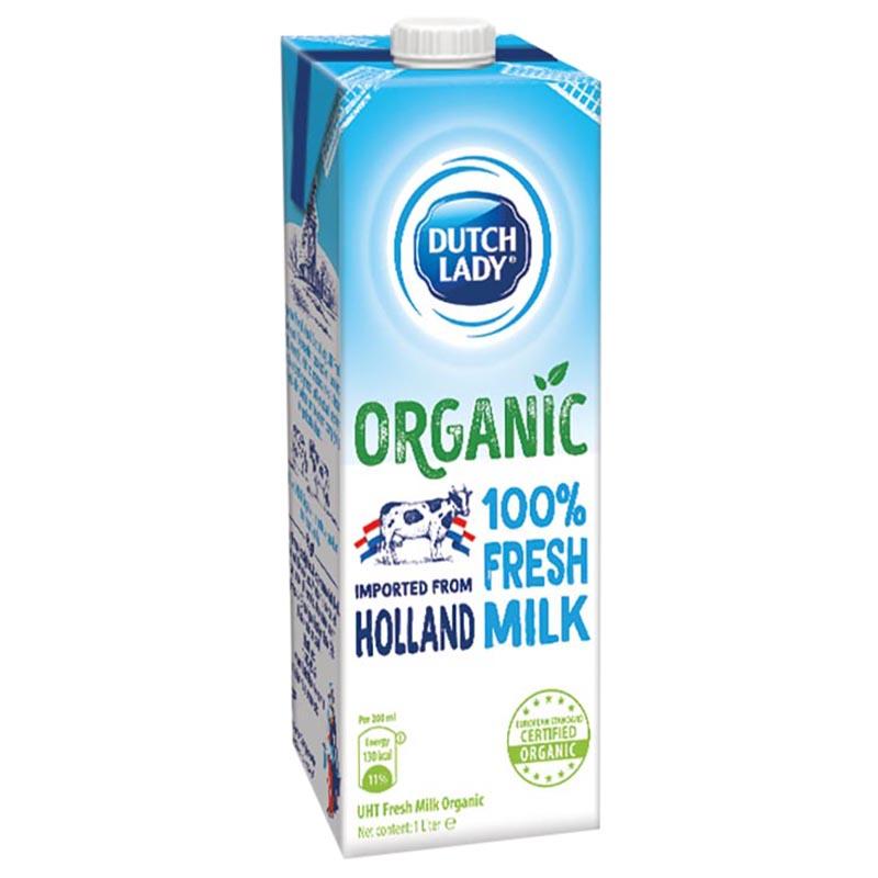 Hộp Sữa Tươi Tiệt Trùng Dutch Lady Cô Gái Hà Lan Organic 1L