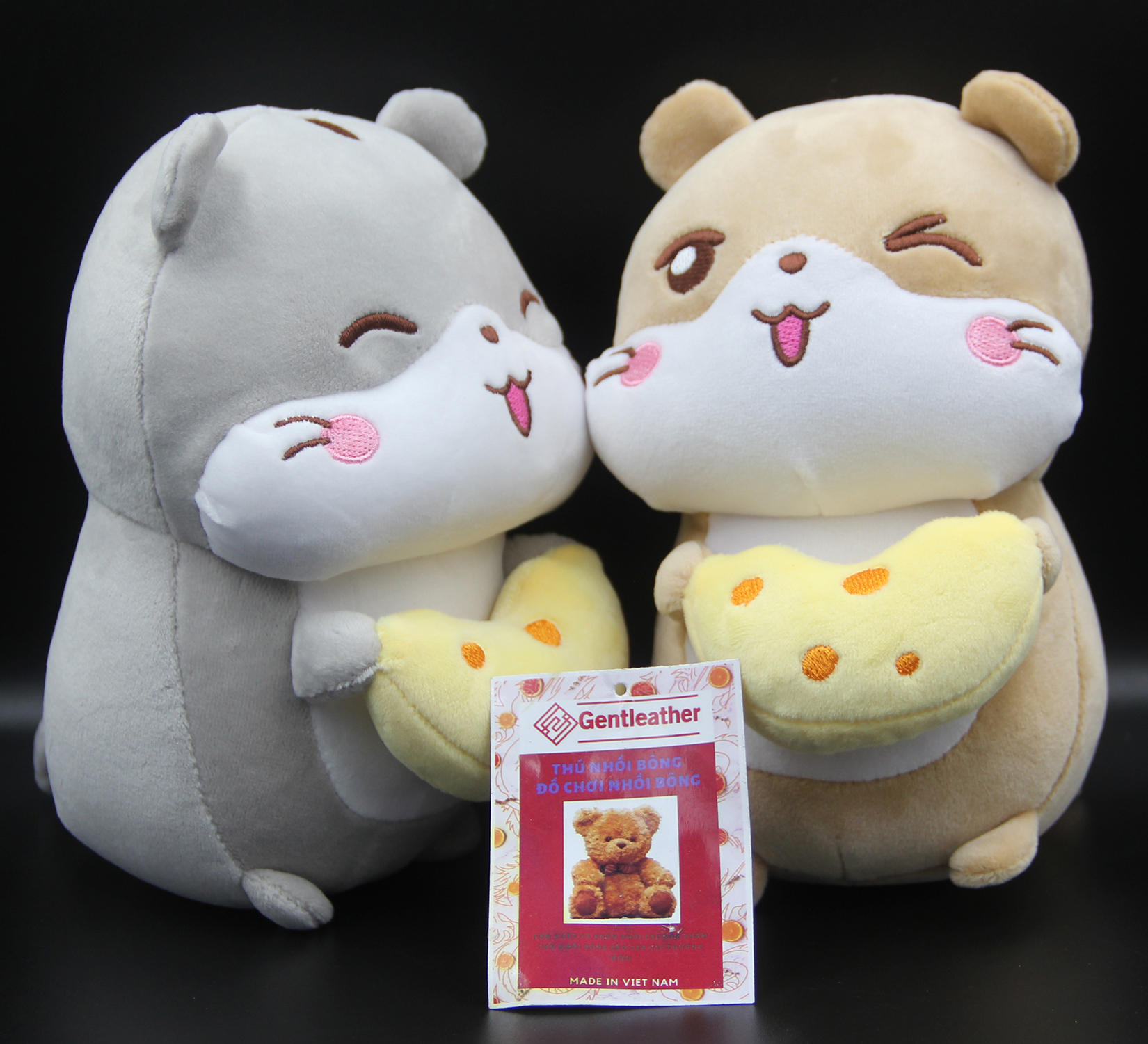 Gấu Bông/ Thú Nhồi Bông Chú Chuột Nhí Ôm Phô Mai Siêu Đáng Yêu 18 cm BA00205