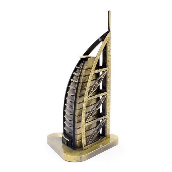 Mô hình khách sạn Burj Al Arab cao 15 cm (Màu Vàng Rêu)