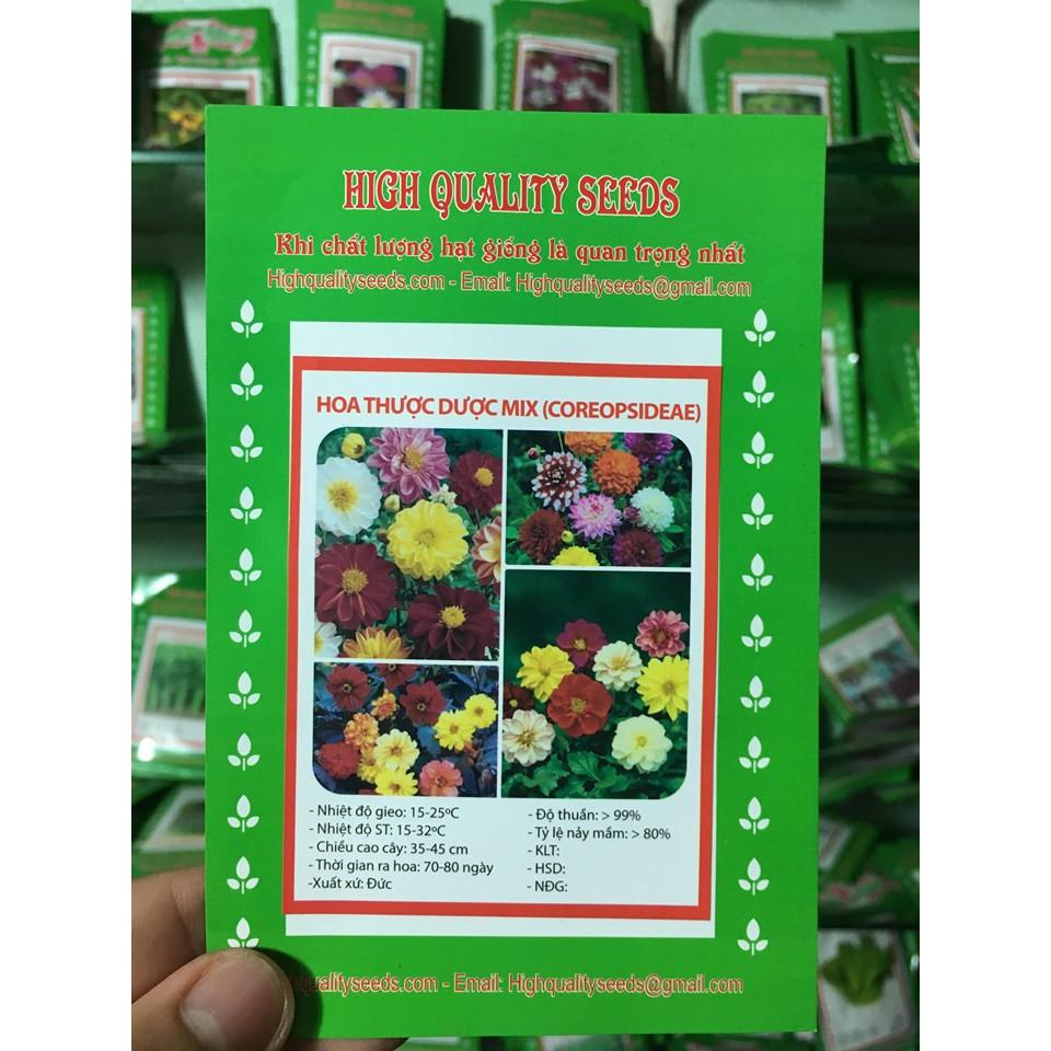 Hạt Giống Hoa Thược Dược Mix - Nảy Mầm Cực Chuẩn