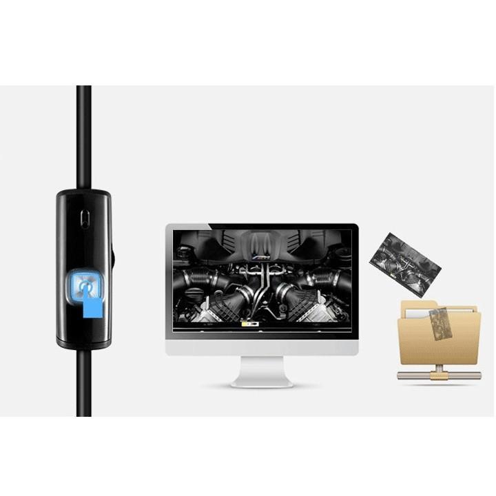 Camera nội soi 5mm cắm qua điện thoại hoặc USB máy tính dài 5m