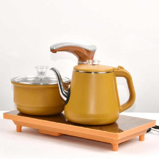 Ấm đun nước pha trà điện siêu tốc bếp đôi chống nóng
