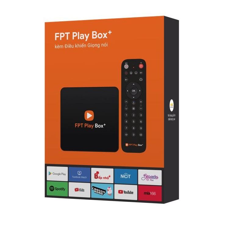 Android tivi box FPT Play Box plus 2019 điều khiển giọng nói tặng bàn phím kiêm chuột mini - Hàng Chính Hãng