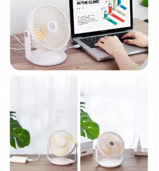 (Hàng chính hãng) Quạt mini cầm tay hoặc để bàn Yoobao F2 sử dụng nguồn USB, có thể xoay 360 độ với 3 chế độ gió tùy chỉnh