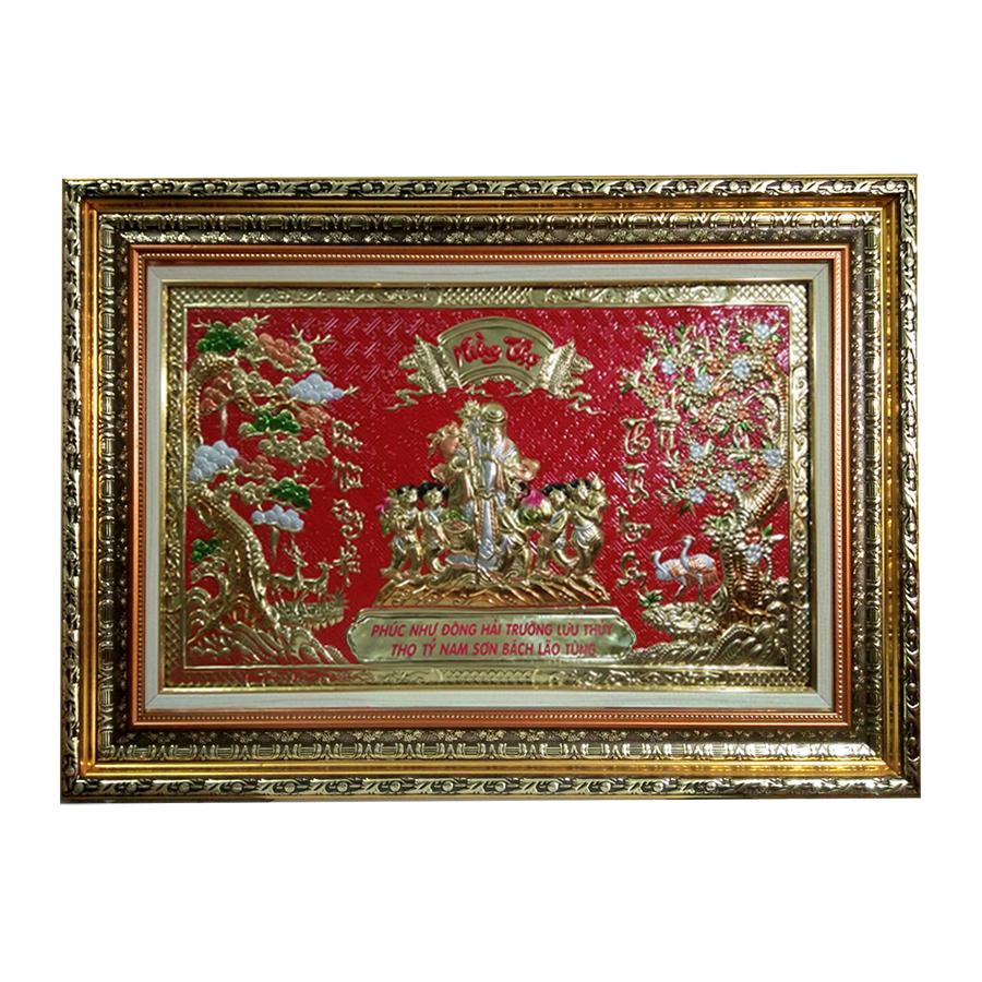 Tranh Mừng Thọ Ông  - (78 x 118 cm)