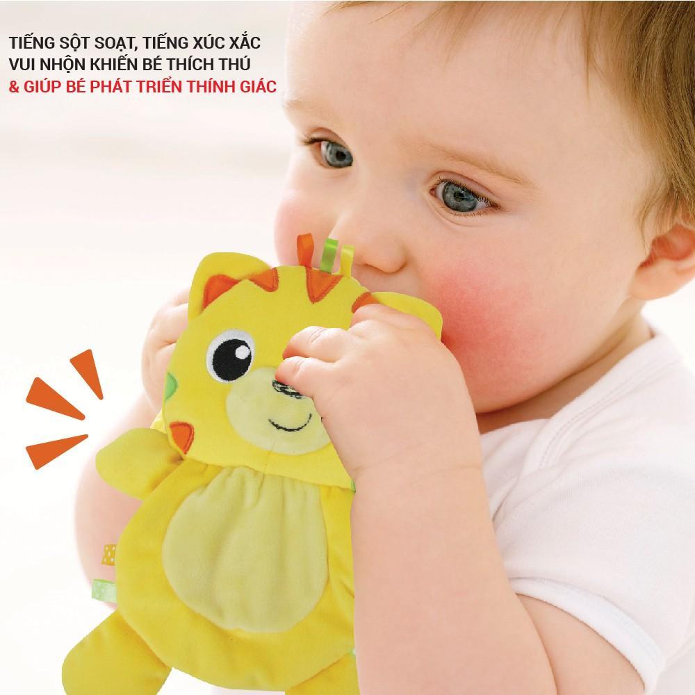 Set 3 đồ chơi cầm tay xúc xắc chíp chíp WINFUN 3027 - gặm nướu hổ gặm nướu sột soạt  - BPA free