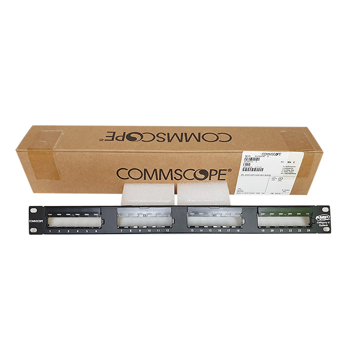 Patch panel 24 port cat5e