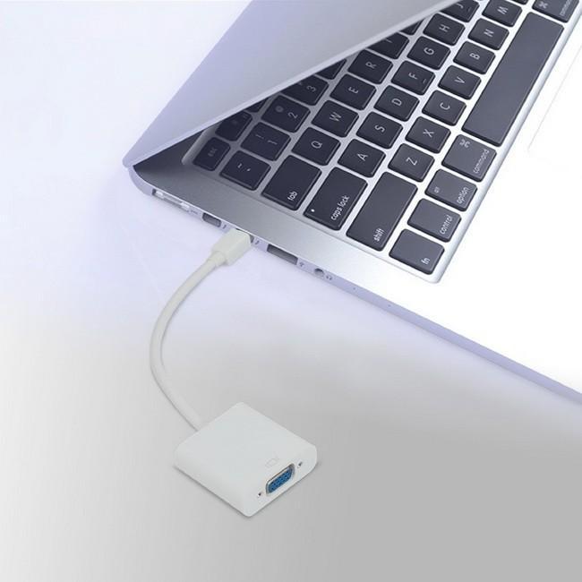 Cáp chuyển Mini displayport sang VGA dùng cho macbook, laptop