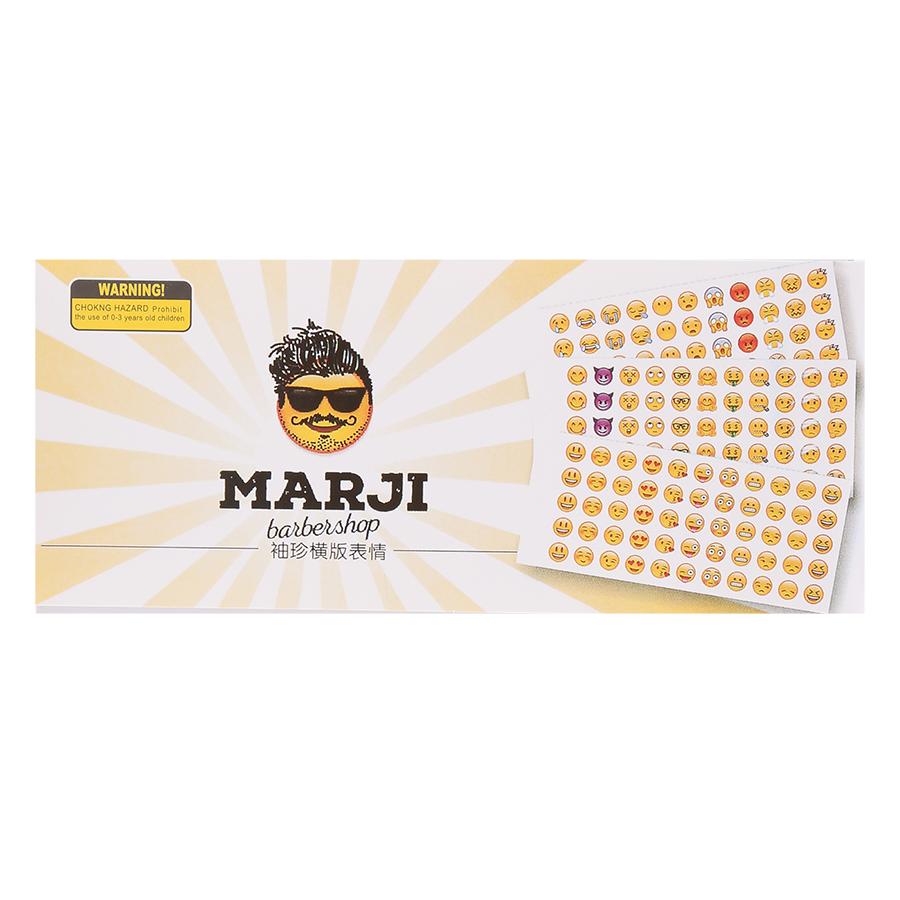 Bộ 12 Tấm Sticker Dán Trang Trí - Emoji (70 x 165 mm)