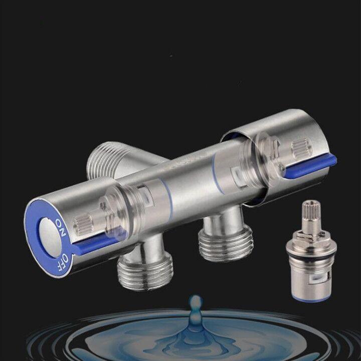 Bộ vòi xịt vệ sinh bồn cầu inox 304 gồm ( van nước 2 đầu ra + vòi xịt + cài xịt + dây xịt )