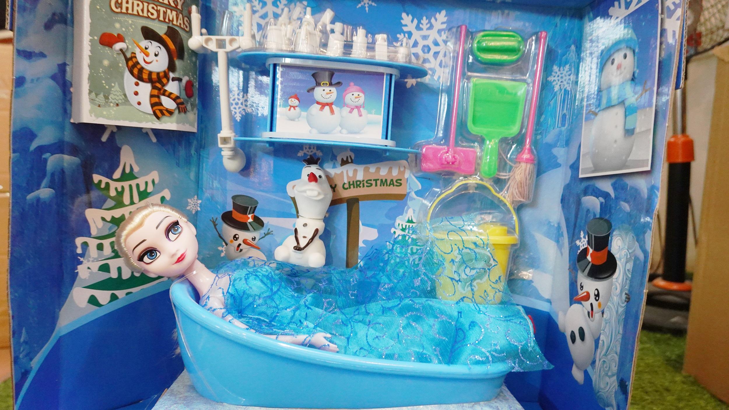 Búp bê Elsa và Bồn Tắm