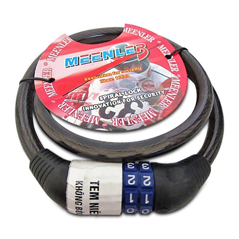 Khóa dây chống trộm mật mã cỡ nhỏ cao cấp cho xe máy ô tô (Màu ngẫu nhiên)