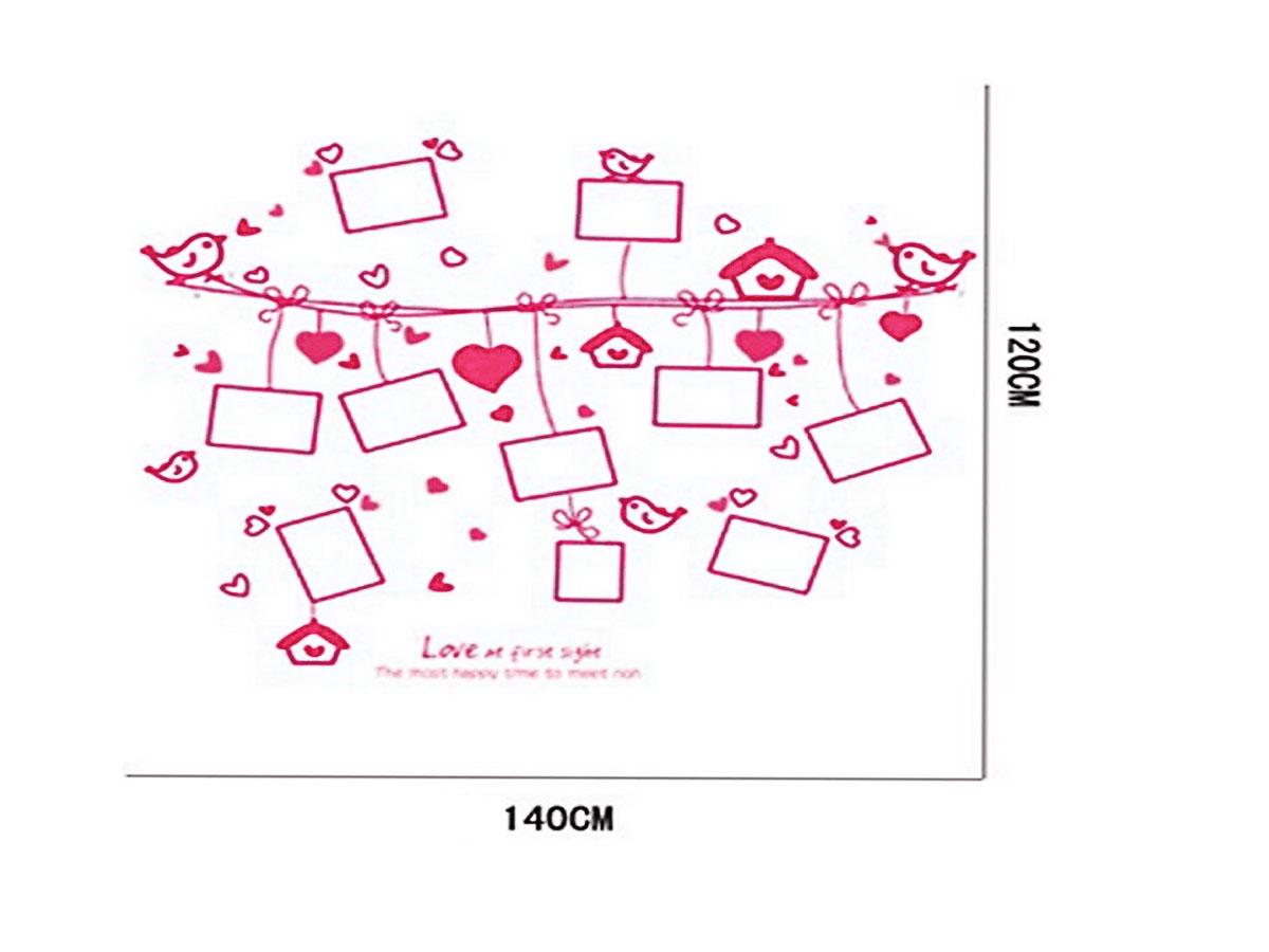 Decal dán tường - Khung ảnh trái tim AM9047