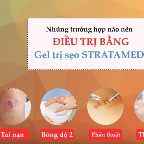 Gel silicone STRATAMED Thụy Sỹhỗ trợ phục hồi và cải thiện vết thương hở, sẹo bỏng - Hàng chính hãng