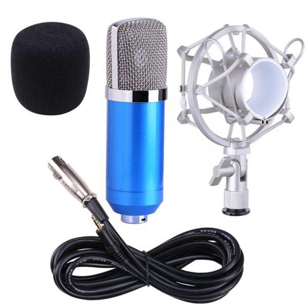 Bộ Micro livestream tại nhà BM 800 (kèm bông lọc, chân mic) - giao màu ngẫu nhiên
