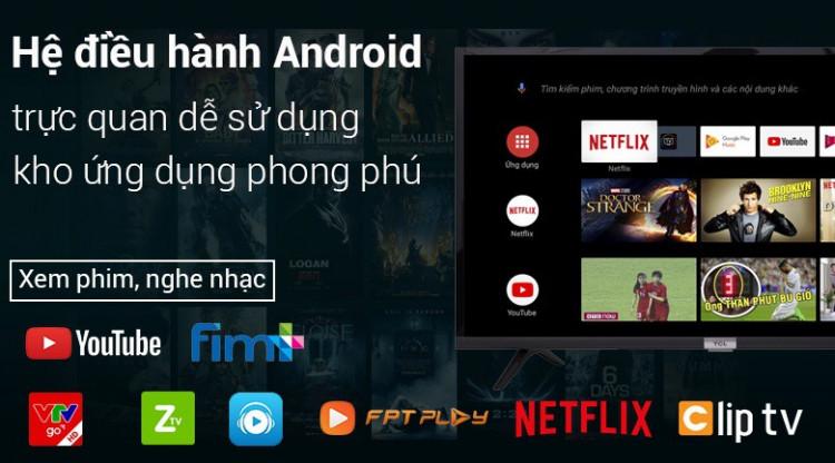 Hệ điều hành Android 8.0 trên Android Tivi TCL 32 inch 32S6500