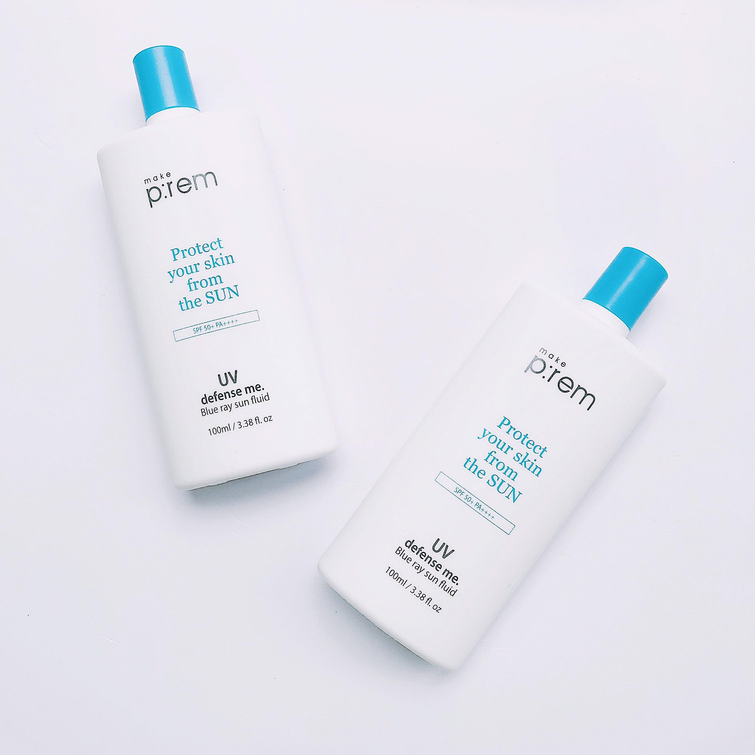 Kem Chống Nắng Make P:rem Protect UV Defense Me Blue Ray Fluid