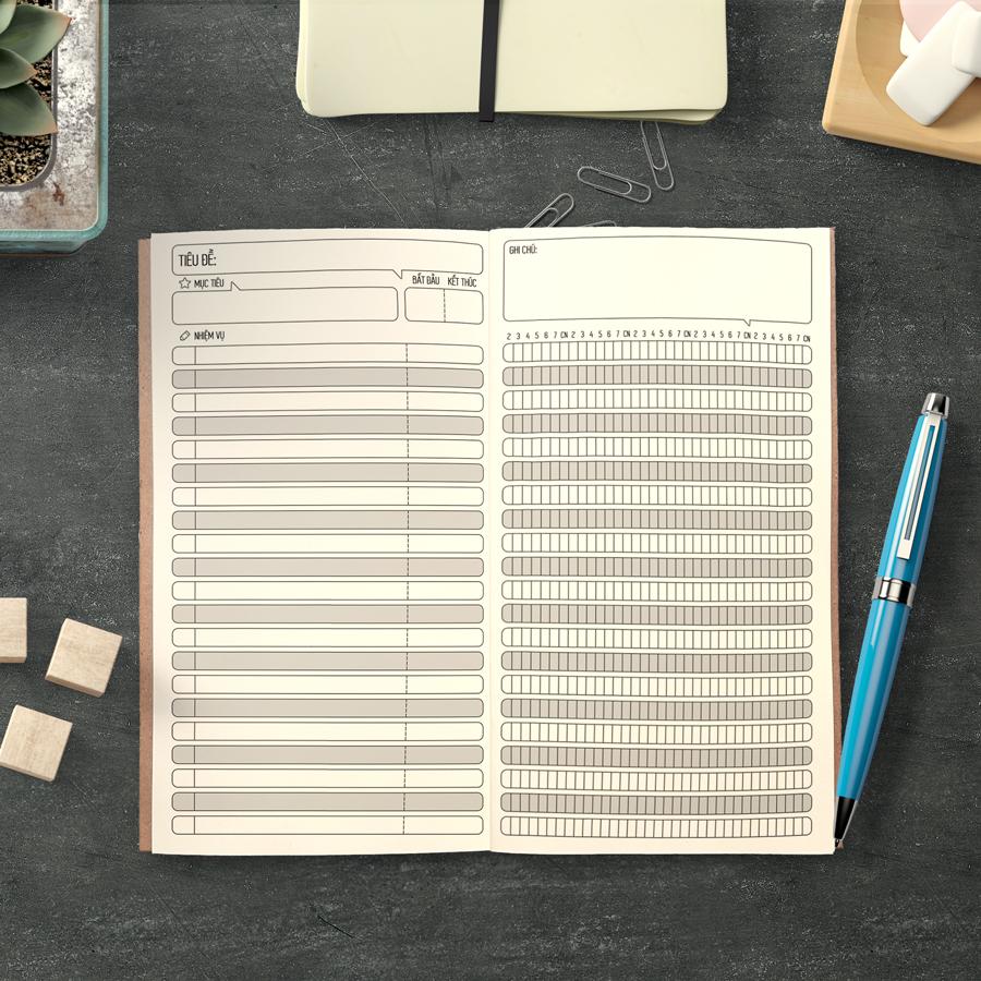 """Sổ tay planner """"Chạy Deadline"""" bìa cứng 21x11 to-do list, thời gian biểu, check list, nhắc việc, lịch hẹn"""