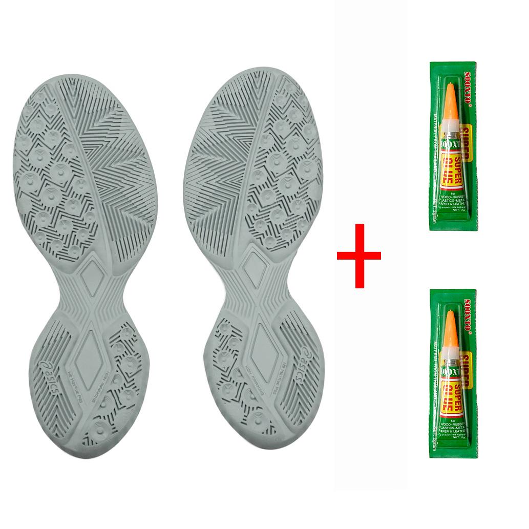 Đế giày bóng rổ, cầu lông - Tặng kèm 2 lọ keo (Giáp đế giày - chuyên cày sân outdoor) - Giao màu ngẫu nhiên