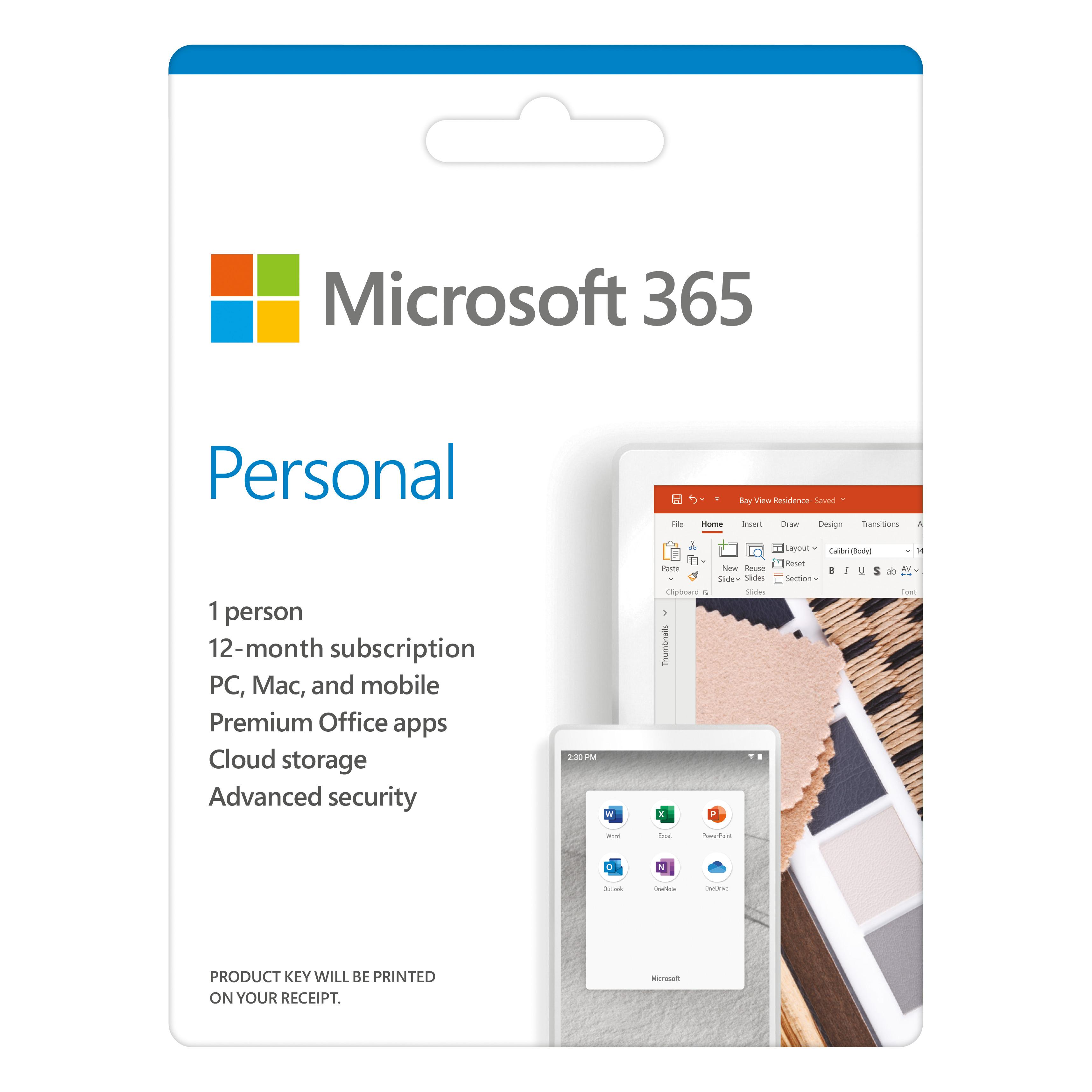Hình ảnh Phần mềm Microsoft 365 Personal English APAC EM Subscr 1YR Medialess P6 (QQ2-00983) - Hàng Chính Hãng