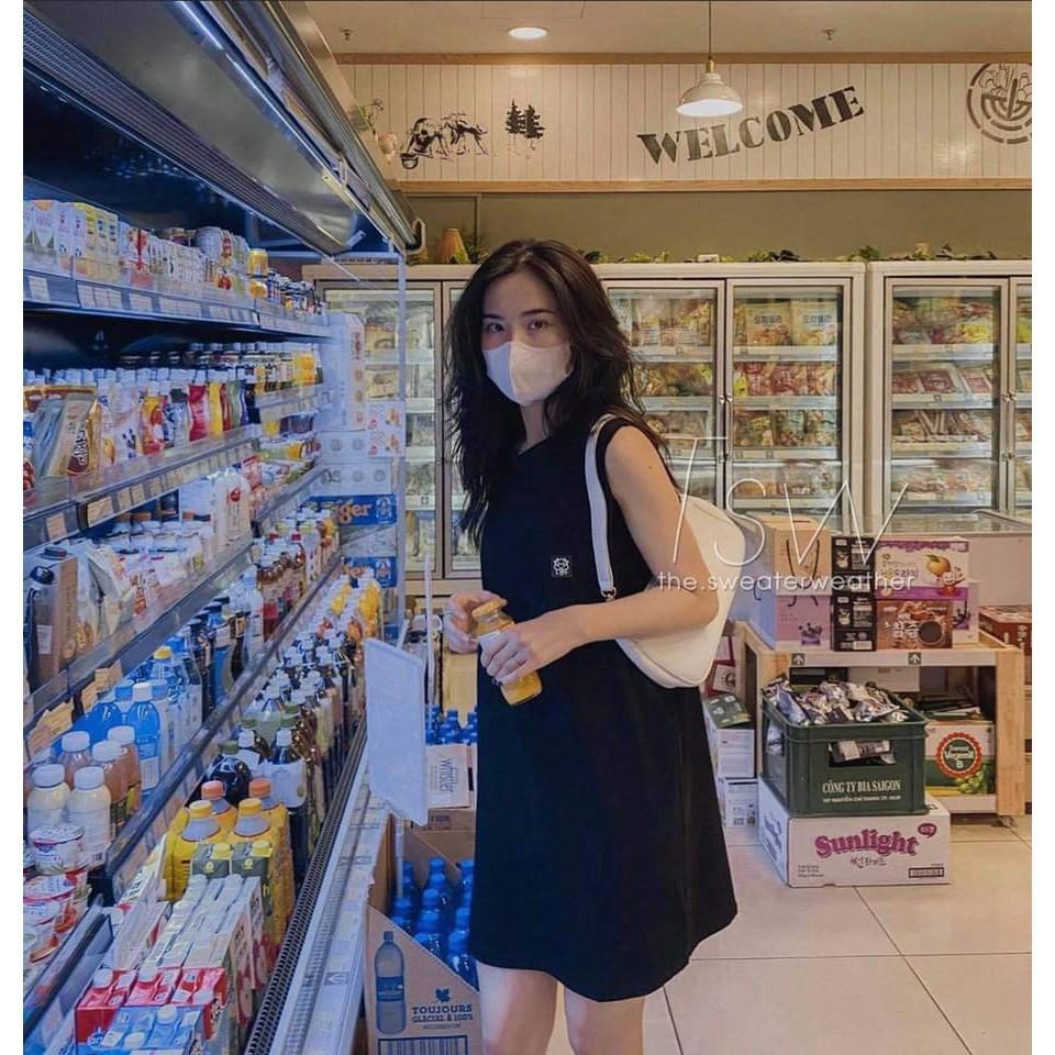 Váy Thun 3 Lỗ LanTran Siêu Mát Form Rộng Bầu Bí Bon Chen Tới 65kg