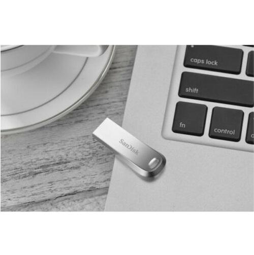 USB 3.1 SanDisk Ultra Luxe CZ74 128GB 150MB/s (Bạc) - Hàng Chính Hãng