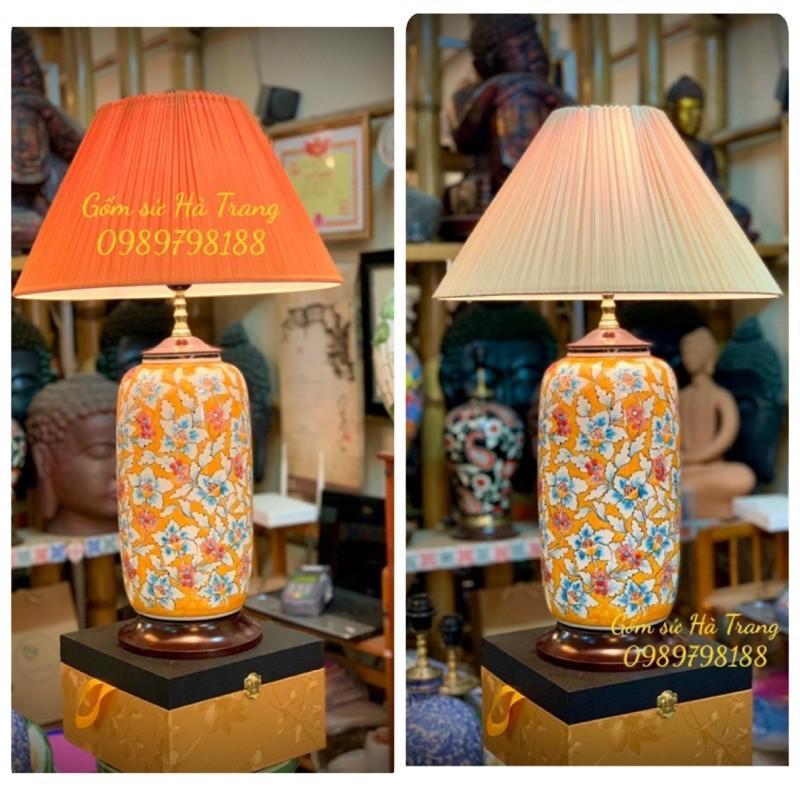 đèn ngủ đèn trang trí gốm sứ Bát Tràng mã 01
