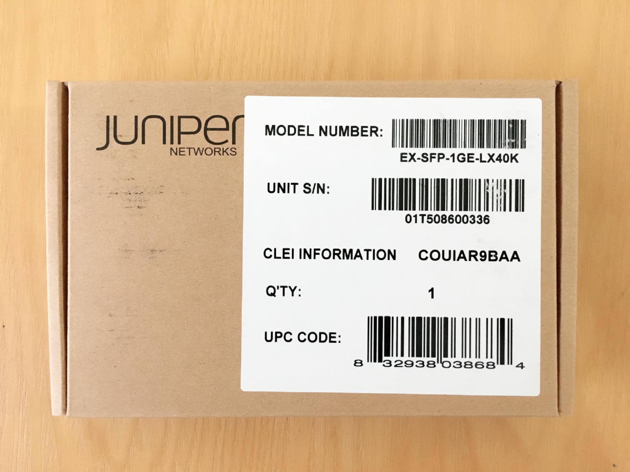 Module quang Juniper EX-SFP-1GE-LX40K SFP 1000Base-LX 1310nm 40km SMF-Hàng nhập khẩu