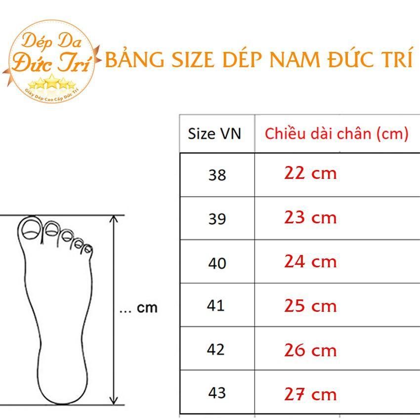 Dép Lê Nam Da Bò Cao Cấp Nhẹ Êm 65N14