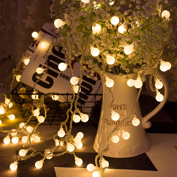 Đèn Led Trang Trí Bóng Tròn Dài 6M - 40 Bóng Trang Trí Noel Lễ Tết