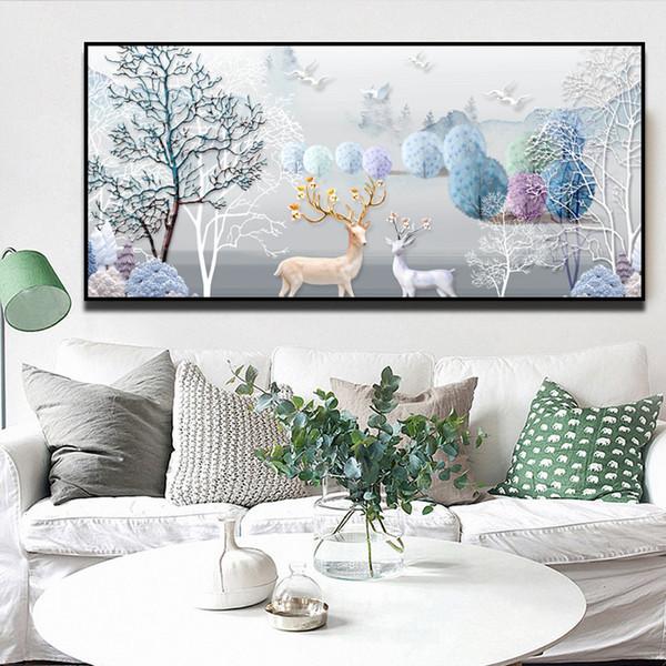 Tranh Canvas Kèm Khung Viền PGTK285 (60 x 120 cm)