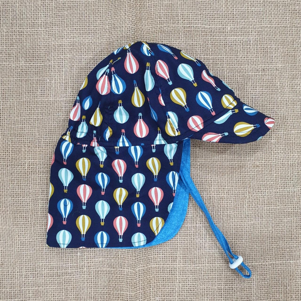 Mũ che gáy chống nắng cho bé trai, bé gái từ 0 - 12 tuổi mẫu khinh khí cầu đi biển dã ngoại