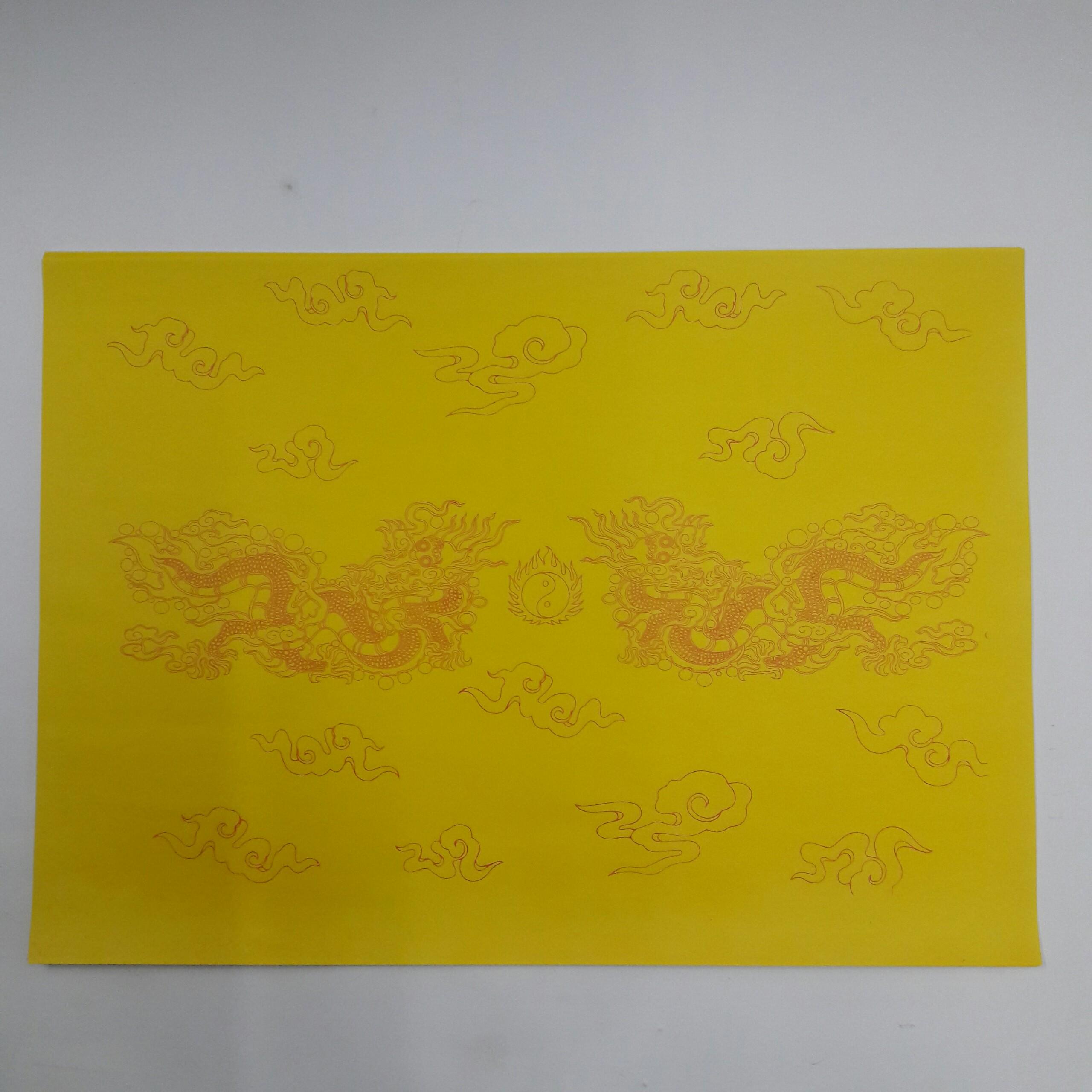 Giấy In Sớ Việt Lạc rồng chầu RN a3 DL60 nền vàng