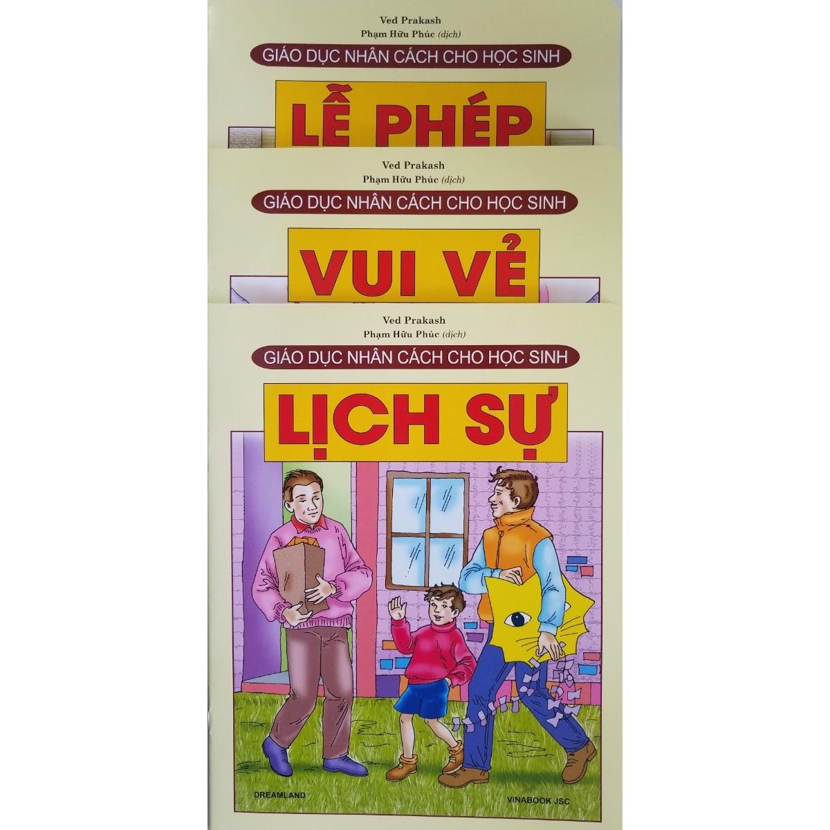 Combo Sách Giáo Dục Nhân Cách Cho Học Sinh (3 cuốn): Lễ Phép + Vui Vẻ + Lịch Sự