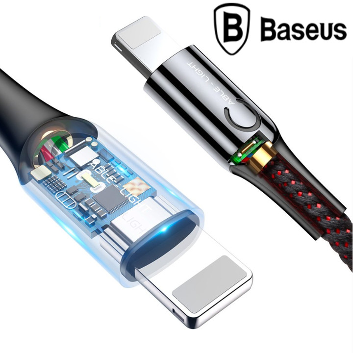 Dây cáp sạc thông minh Lightning tự ngắt Baseus Light LV195 (CALCD-01) - Hàng nhập khẩu