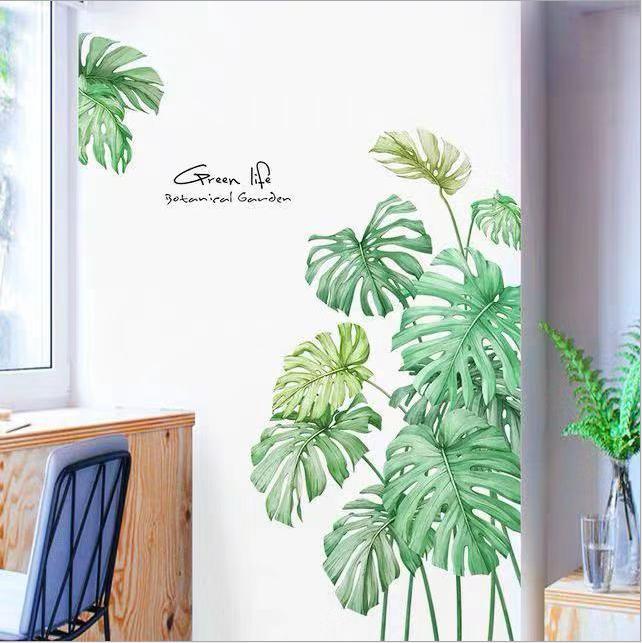 Decal dán tủ lạnh phong cách Hàn Quốc Green Life DKN136 (108 x 78 cm)