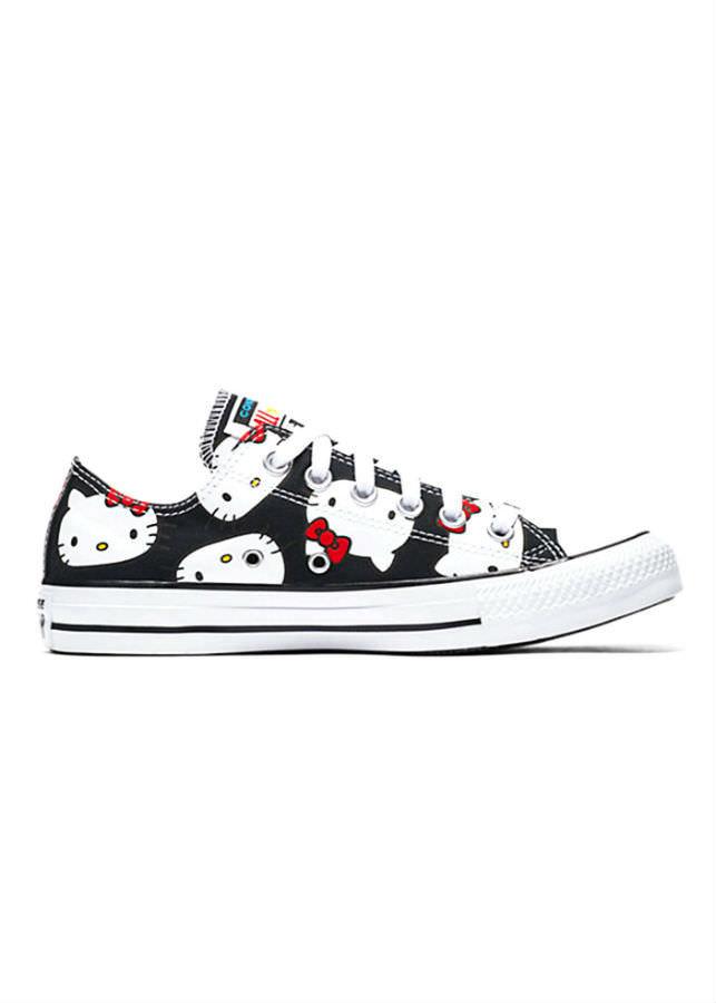 Giày Sneaker Unisex Converse x Hello Kitty Chuck Taylor All Star Cavas Black Low