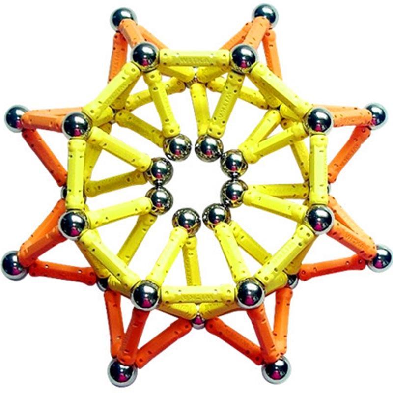 Đồ Chơi STEM - Bộ Xếp Hình Nam Châm Magnetic 350 Chi Tiết