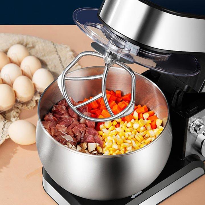 Máy nhào bột, đánh trứng, trộn thực phẩm làm bánh 5 lít 1200W Hàng Chính Hãng