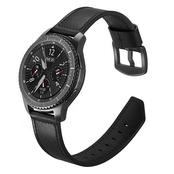 Dây da Size 22mm  cho Gear S3, Galaxy Watch, Ticwatch Pro