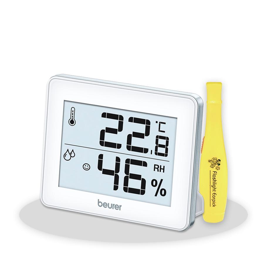 Nhiệt Ẩm Kế Beurer HM 16 + Tặng Đèn Soi Tai - Máy đo nhiệt độ, độ ẩm    SieuThiChoLon.com