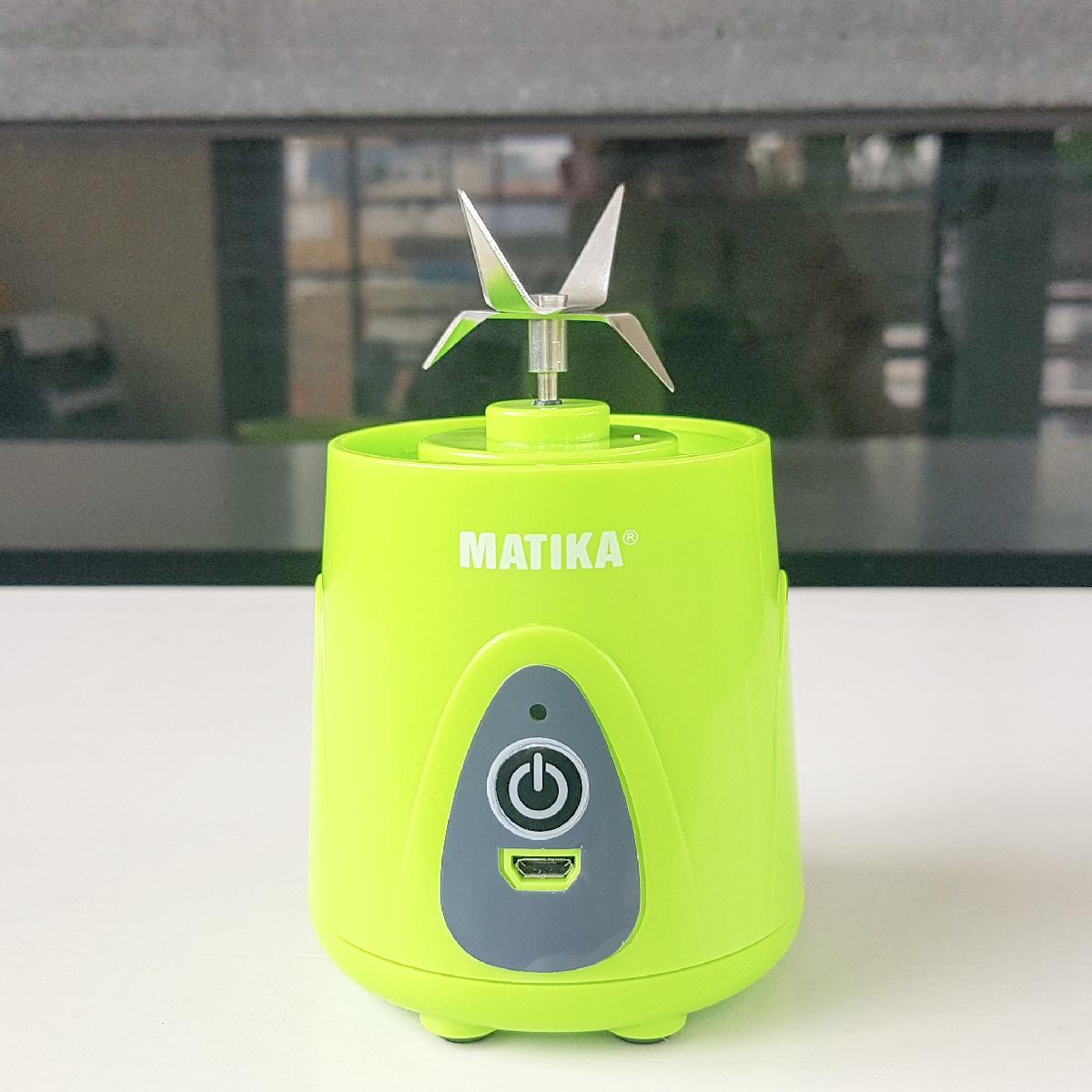Máy xay sinh tố cầm tay 380 ml di chuyển linh hoạt chông giò rỉ nước cao cấp chính hãng Matika 3138